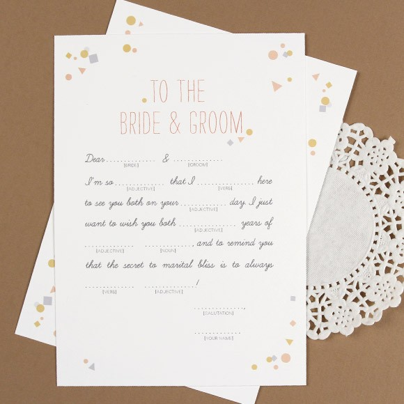 photograph relating to Free Printable Wedding Mad Libs Template known as Confetti Nuts Libs Printable by way of Simple Invite