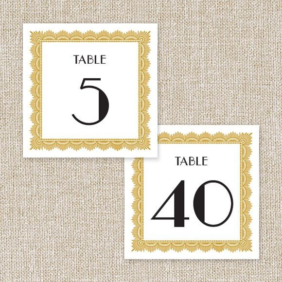 Art Deco Table Numbers By Basic Invite