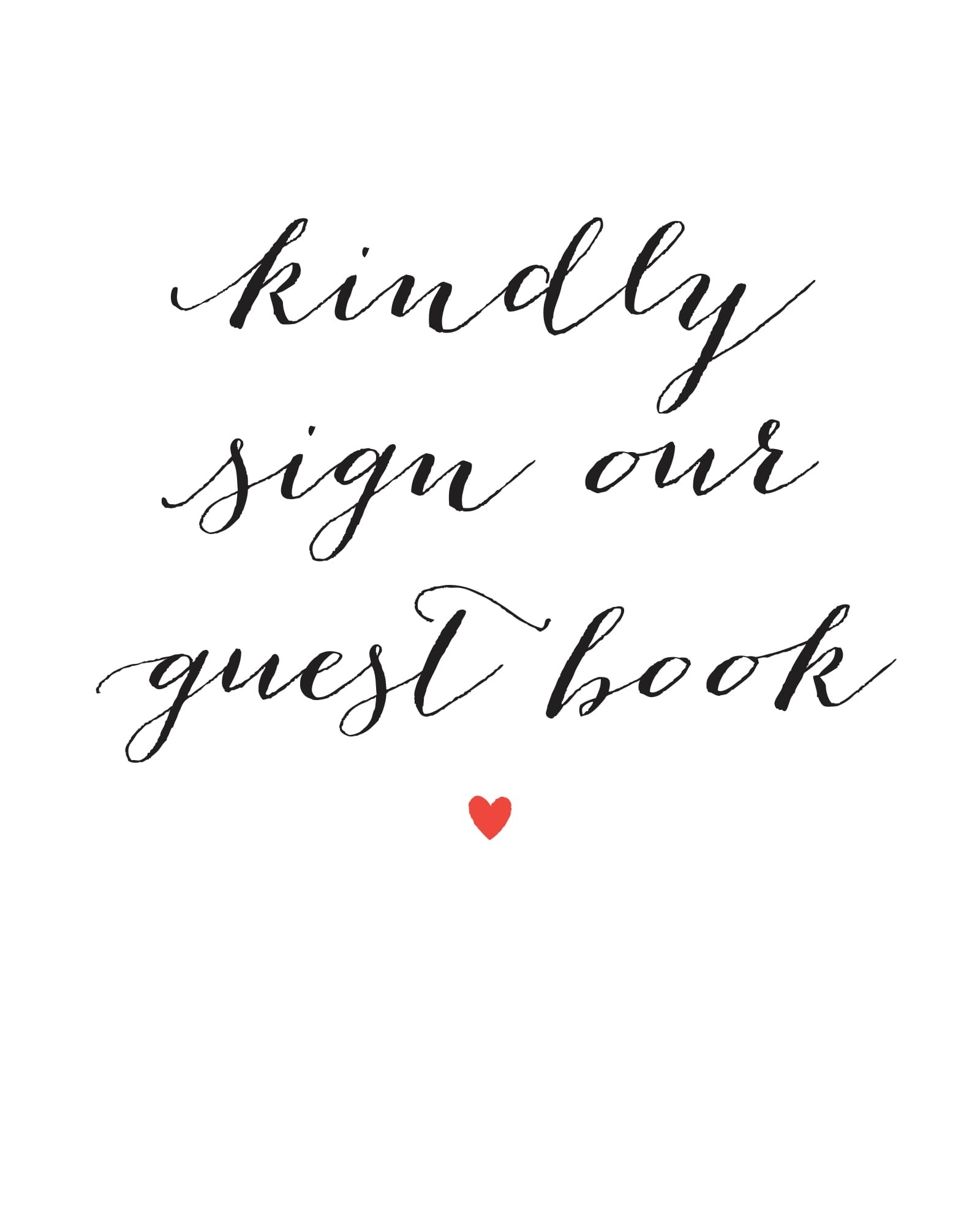 picture about Printable Guest Book identified as Script Middle Visitor Guide Indication Printables by way of Easy Invite