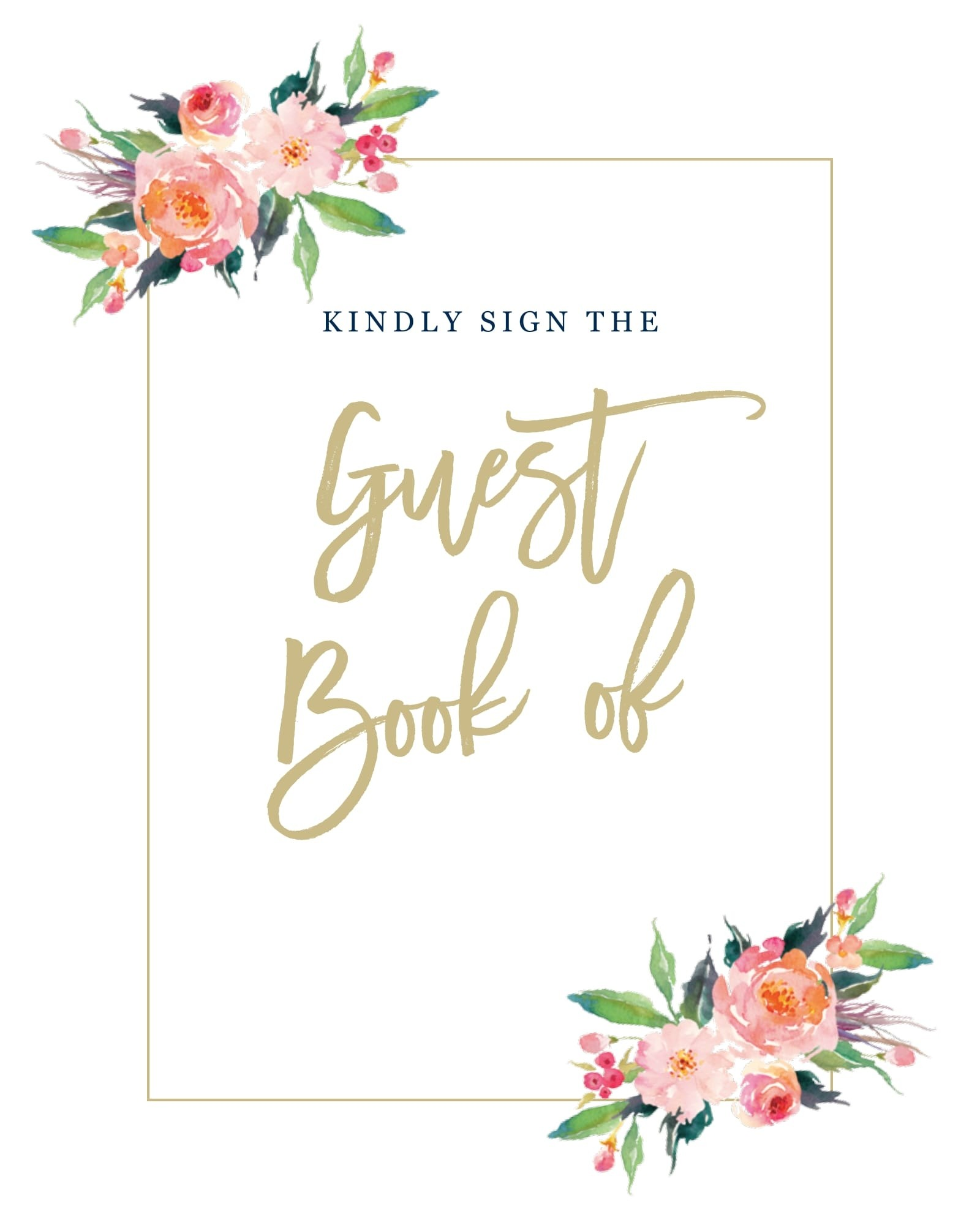 image regarding Printable Guest Book identify Name Ovation Visitor Guide Signal Printables through Uncomplicated Invite