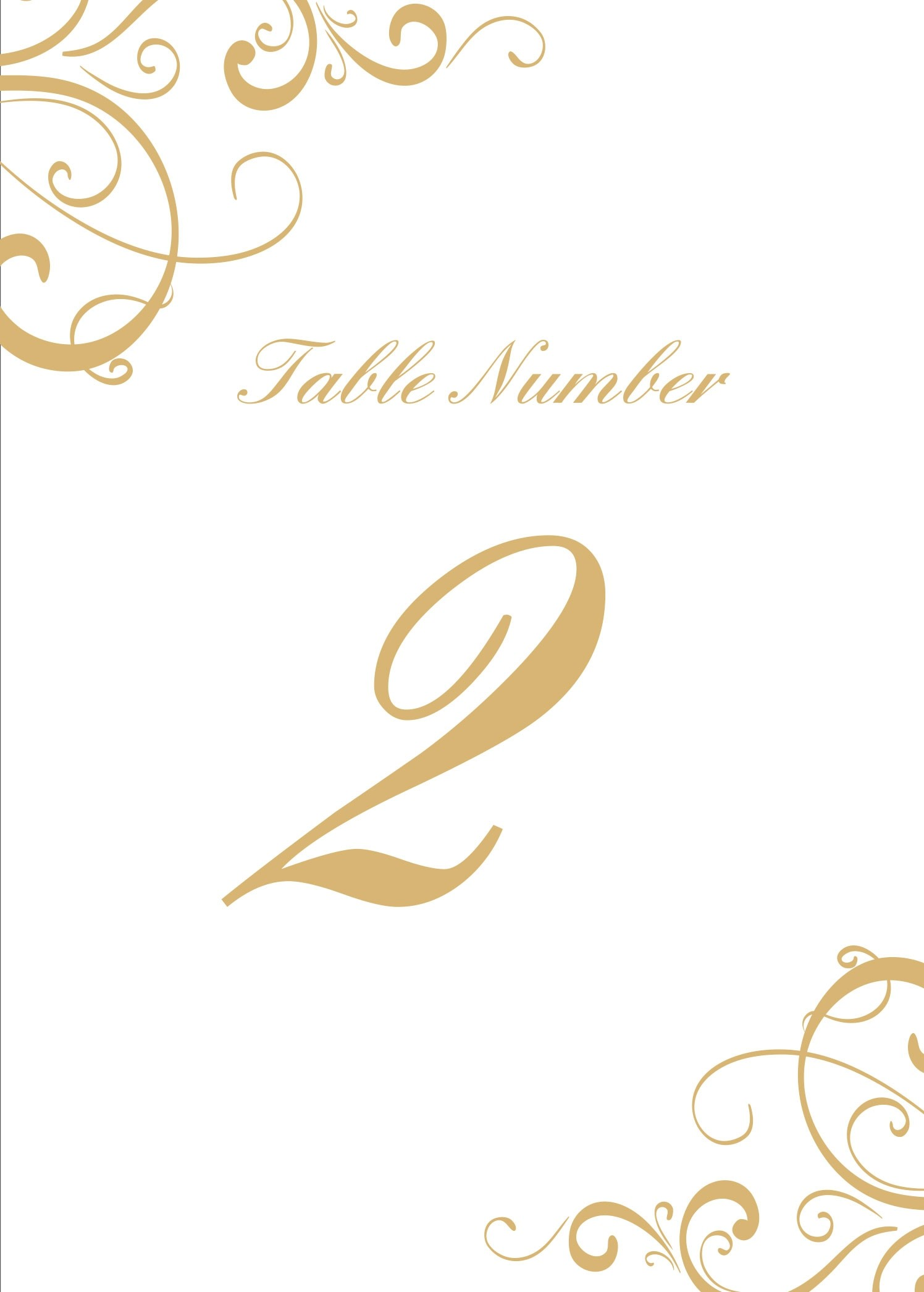 photo relating to Printable Table Number known as Easy Swirls Desk Amount Printables by means of Simple Invite