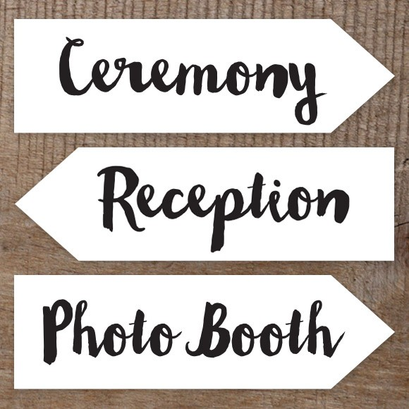 image relating to Wedding Signs Printable called Marriage ceremony Indications Printables and Do it yourself Templates of Indicators