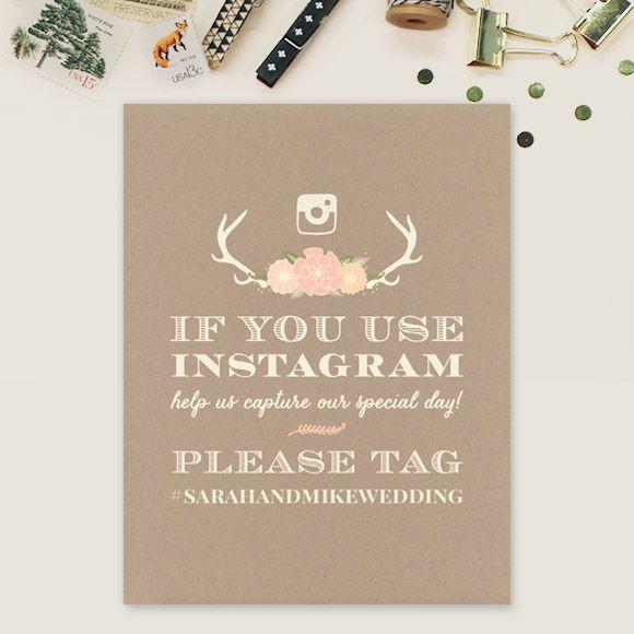 Blooming Antlers Instagram Sign