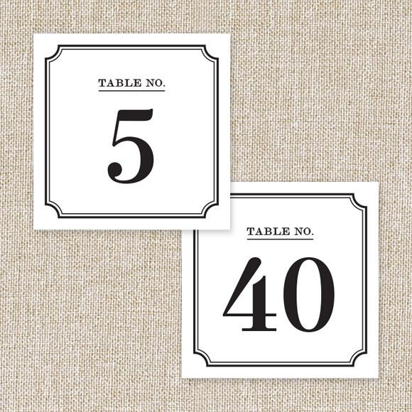 photograph regarding Printable Table Number known as Marriage ceremony Desk Quantities Printable PDF by means of Straightforward Invite