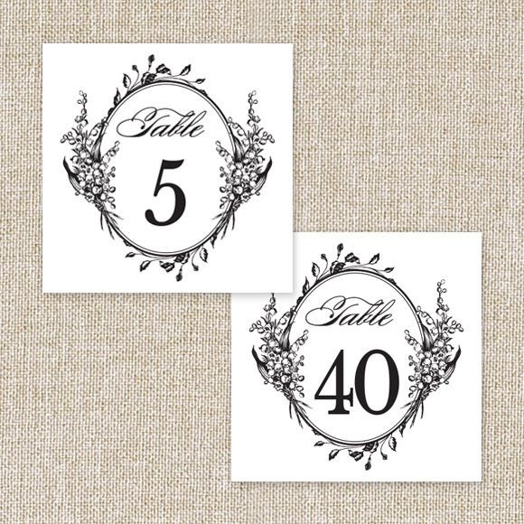 photo regarding Free Printable Table Numbers 1-20 titled Marriage Desk Figures Printable PDF as a result of Very simple Invite