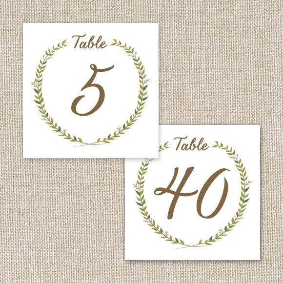 image about Free Printable Table Numbers identified as Marriage Desk Quantities Printable PDF via Easy Invite