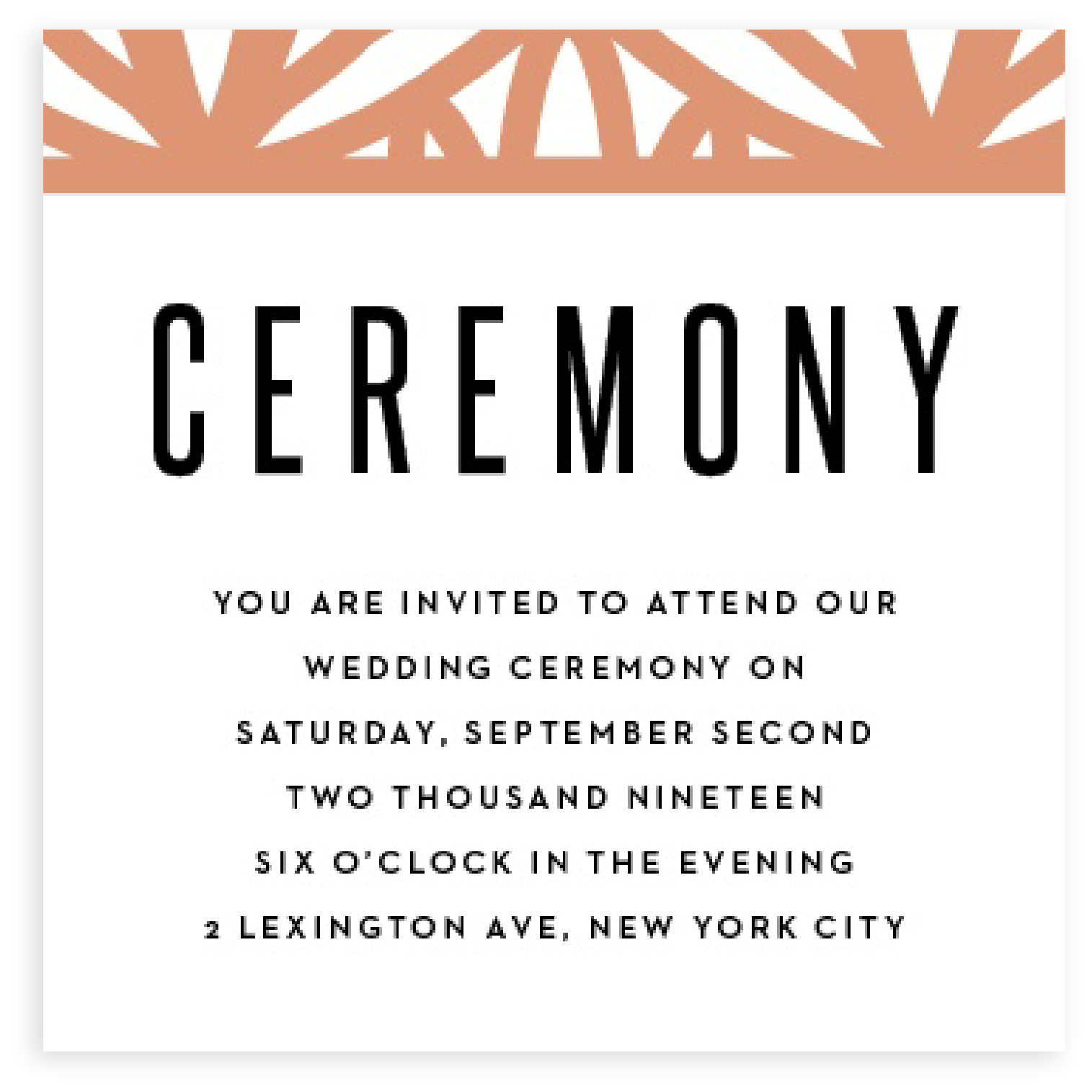 Small Ceremony Big Reception Invitations: Ceremony Card Wording