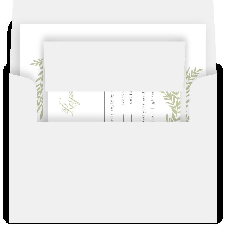 Basic Invite RSVP & Envelope