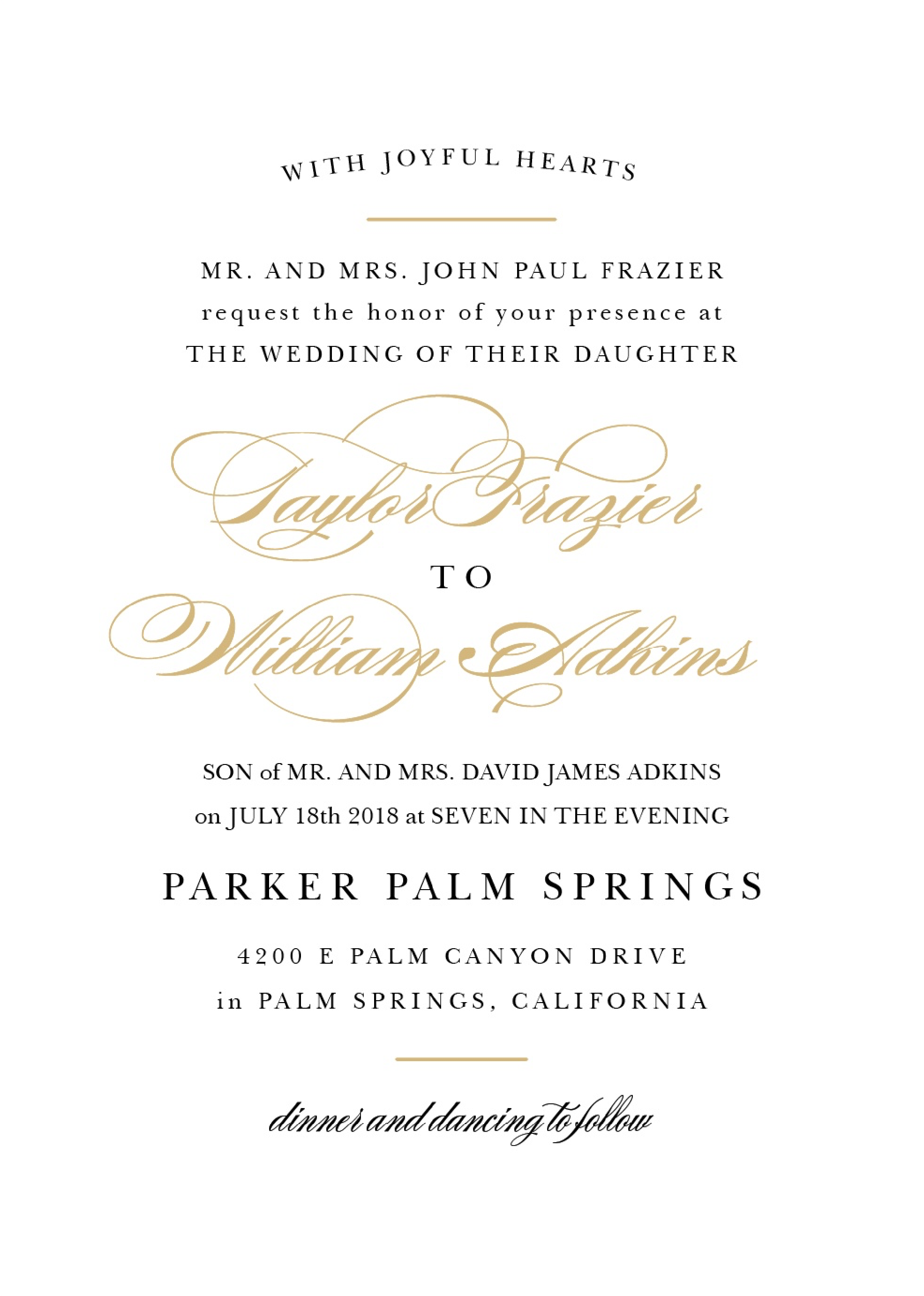 Wedding Invite Etiquette Wording: Wedding Invitation Wording Samples