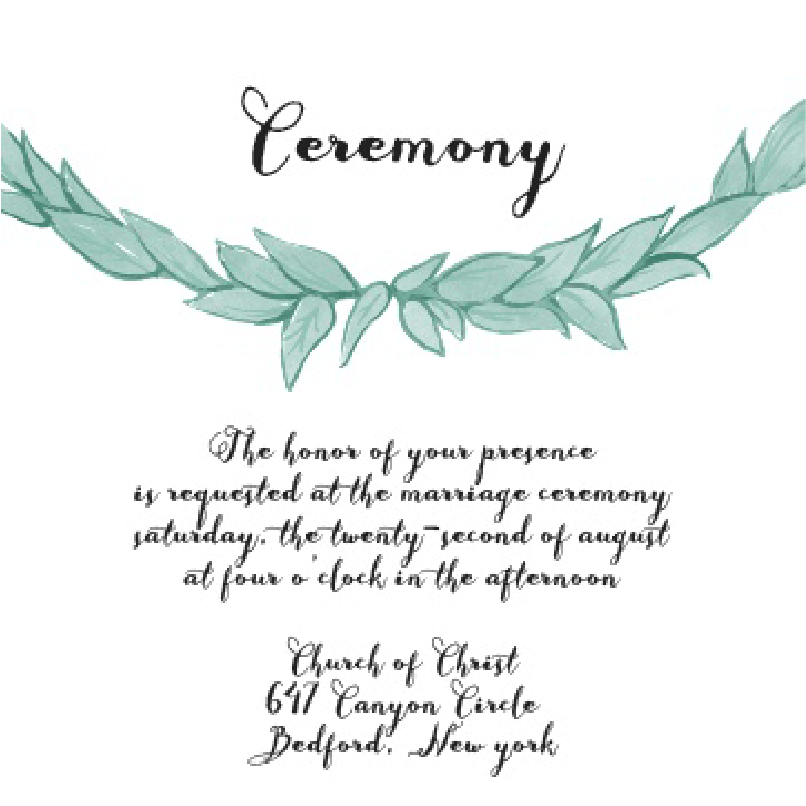 Ceremony Card Image