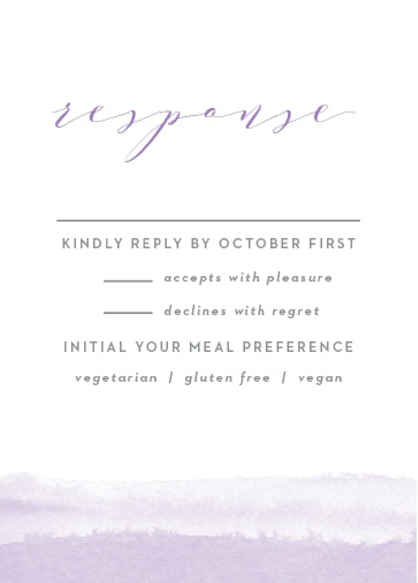 Basic Invite Wedding Response
