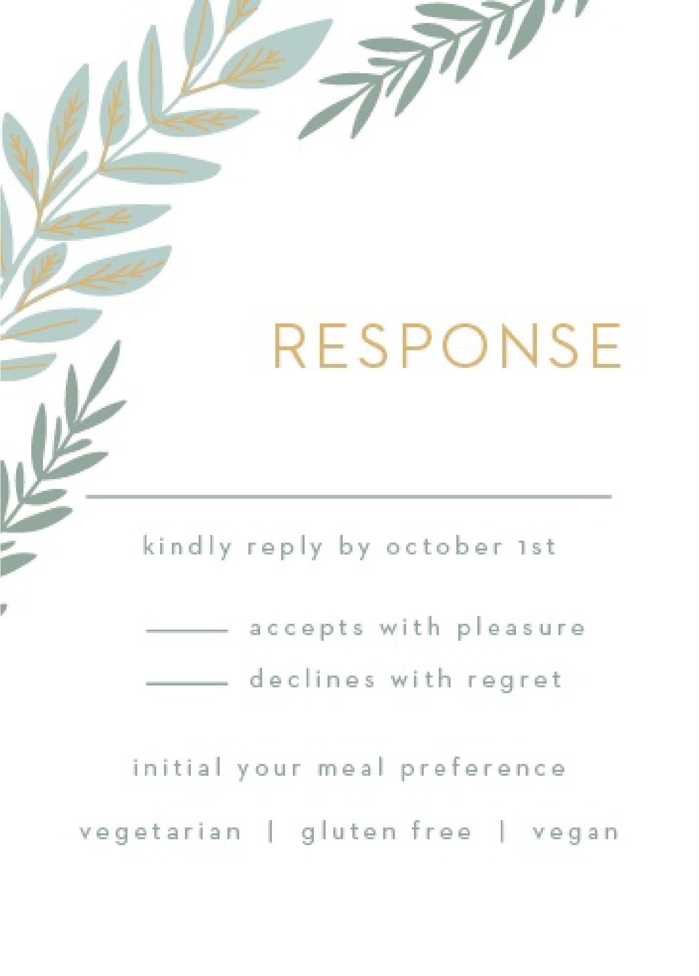 Wedding Response Card Wording.Response Card Wording