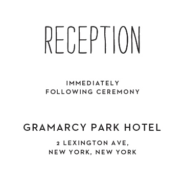 Reception Card Wording Basic Invite
