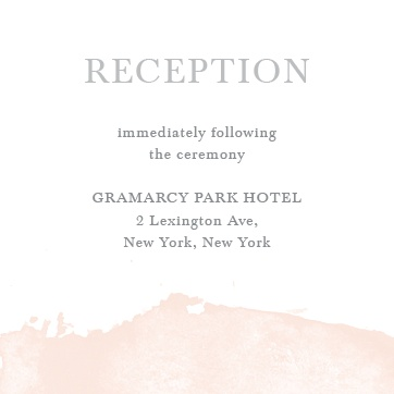 Reception Card Wording