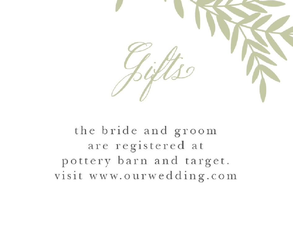 Basic Invite Registry Cards