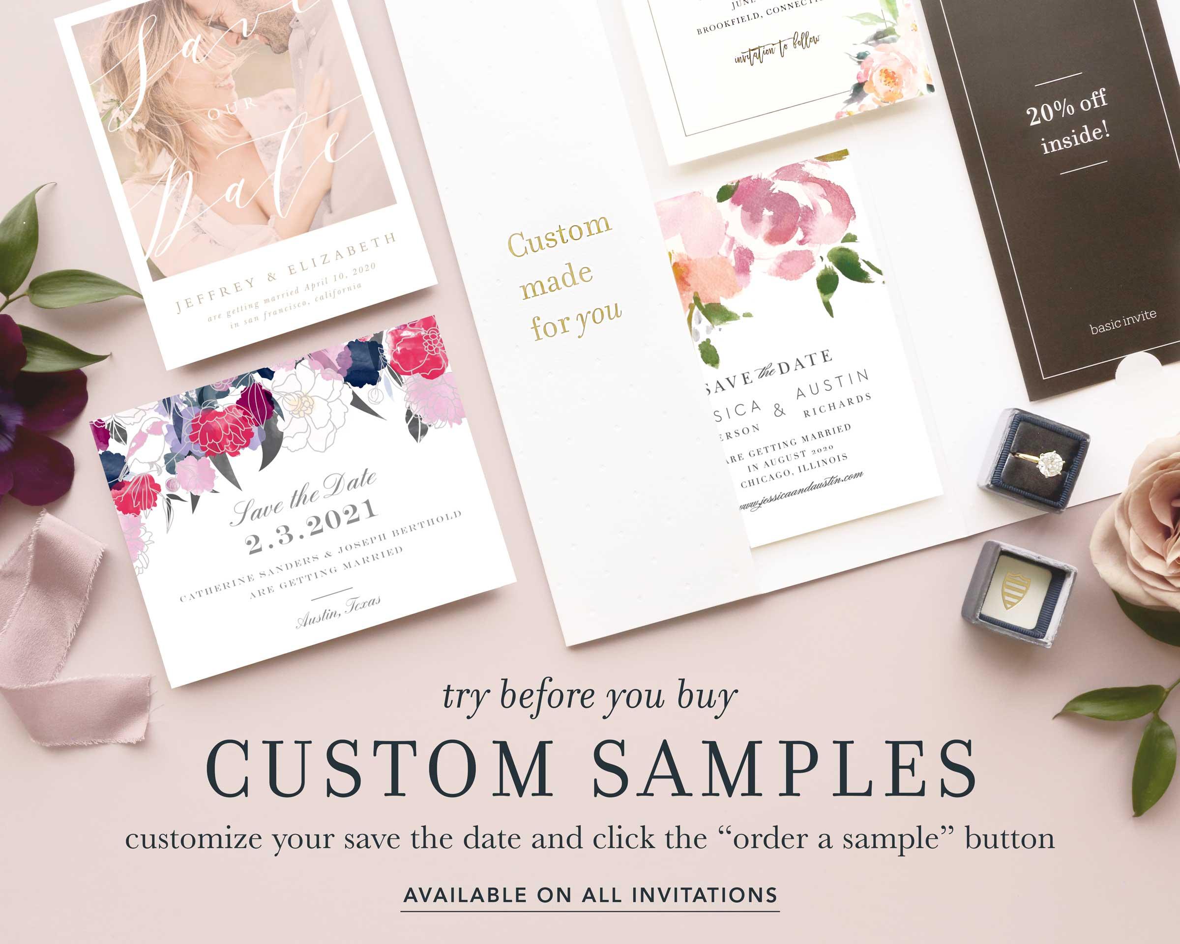 Try before you buy custom samples.