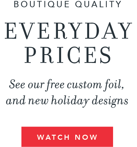 See our free custom foil and new holiday designs.
