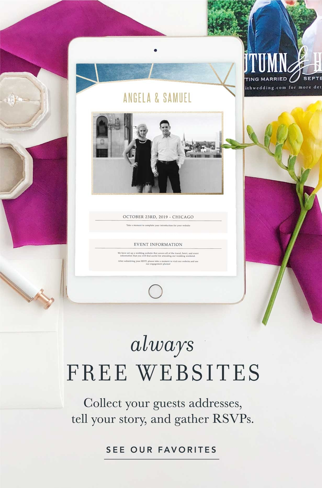 Always Free Websites Collect Your Guests Addresses Tell Story And Gather RSVPs