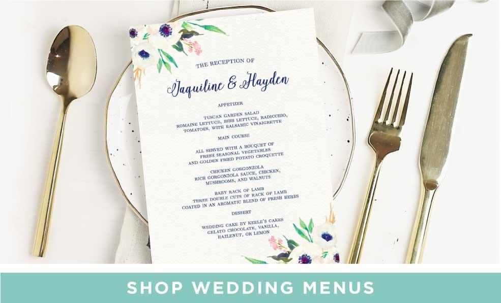 Shop Wedding Menus