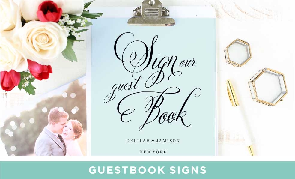Matching Guest Book Signs