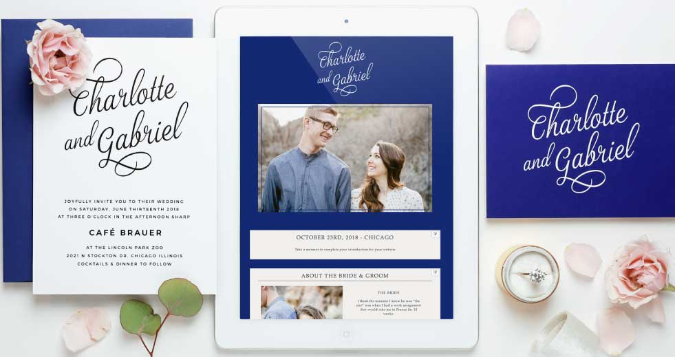 Matching Invitation and Website